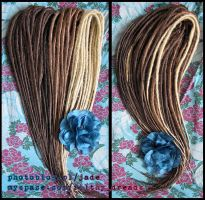 brown synthetic dreads by FilthyDreads