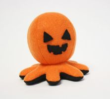 Halloween Jack O'Lantern octopus plush by jaynedanger