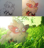 My little Chibi Arcanine by just-Kami