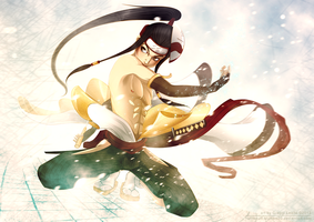 Shirtless Ninja: Yuki Haku by greggileano