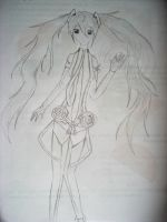 Hatsune Miku ~ Append (Drawing) by Leticiahtk