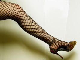 Leg - Fishnet Stock7 by NoxieStock