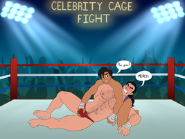 Celebrity Wrestling: Aladdin Owns Gaston Part 2 by toongalore