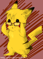 Pikachu for TechDoesMemes by Baby-Cougar