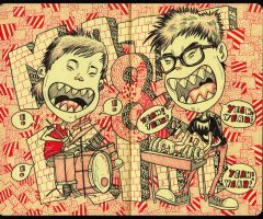 Matt and Kim moleskine by KDLIG