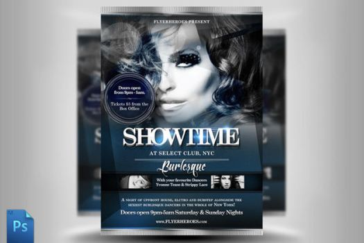Showtime Flyer Template by quickandeasy1