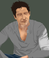 Gerard Butler - WIP never to be finished by AquiterCorona