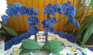 My Beaded Blue Orchid by ViveEe3