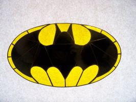 Batman Stained Glass Suncatcher by captivefancy