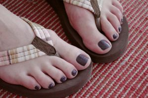 Rica's Dark Toes in Flip Flops 4 by Feetatjoes