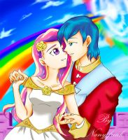 Cadence and Shining armor by NanyJfreak