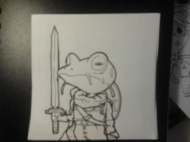 frog from chrono trigger. by Dscapades