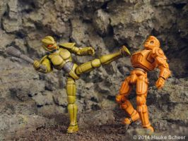 Robots vs. Androids 3D printed figures B by hauke3000