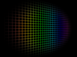 Rainbow Grid From A Perspective by TacoApple99