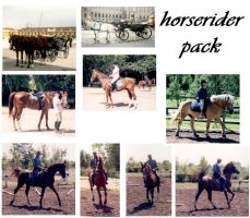 horse rider pack by syccas-stock