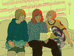 Girlfriends evaluating a love song to cover by kosmonauttihai