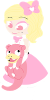 Chibi Com- Lady and Homer by Greteh