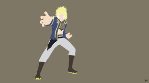 Sting Eucliffe (Fairy Tail) Minimalist Wallpaper by greenmapple17
