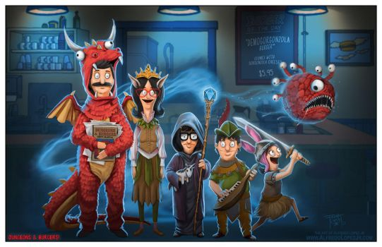 Dungeons and Burgers by GraphicGeek