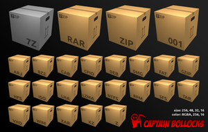 7zip icons by CaptainBollocks