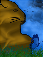 Kitty in the Grass -Line Entry by WDWParksGal