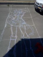 Lucy from Fairy Tail Chalk:step 1 by TuDoRlUcIa