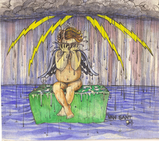 Angel Crying in the Rain... by deviantmike423