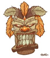 Tiki God mask by MarcosMachina