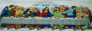 Cross Stitches-The Last Supper by EeveeChan