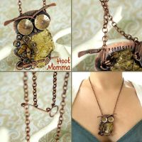 Hoot Momma Owl Necklace by popnicute