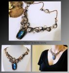 Abyss- wire wrapped copper necklace by mea00