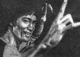 Bruce Lee by restmine