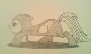 Sneaky Rainbow Dash (Penciled and shaded) by xjuggernaughtx