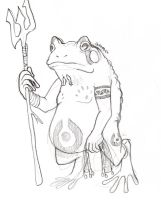 Bullfrog tribal hunter by Quinmael