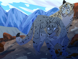 Leopard Family by Marietsloth