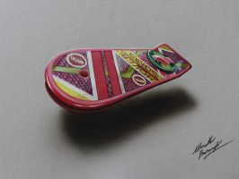 Drawing: the Marty McFly's Hoverboard by marcellobarenghi