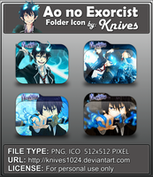 Ao no Exorcist Anime Folder Icon by Knives by knives1024