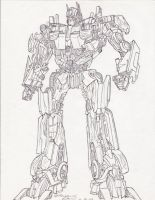 Optimus Sketch by AetheriumDreams