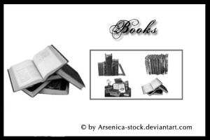 Books Brush Set by Arsenica-stock