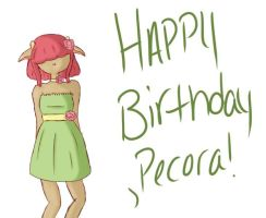 Happy (early) Birthday! Pecora! by Ask-Foster