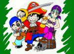 The pirates of dragon ball version 2 by ValdirFB