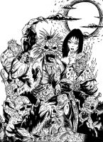 Super Zombies BW by fromthedead