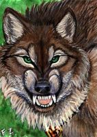 Werewolf ACEO by Foxfeather248