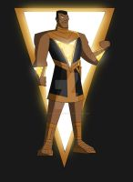 Cam's DCAU Black Adam by TheScarletMercenary