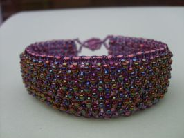 Textured bracelet by Autumn-beads