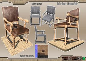 Tudor House - Wooden Chair by DTHerculean