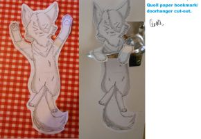 Quoll Paper Cut-Out by Dr-Quollchops