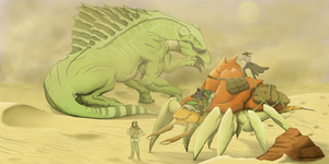 Sharing the Sands with a Titan by a3dkid