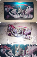 Mewtwo 3DS's shell custom by UmbreoNoctie