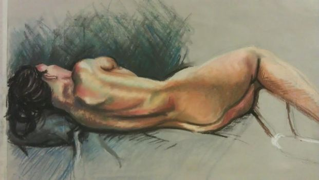 Woman in soft pastels by ryoko-rock